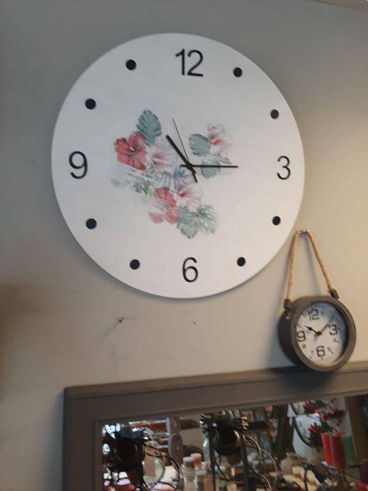 handgemaakte houten klok