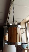 Hanglamp hout/chroom