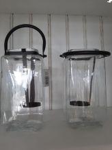 Industrieel windlicht glas