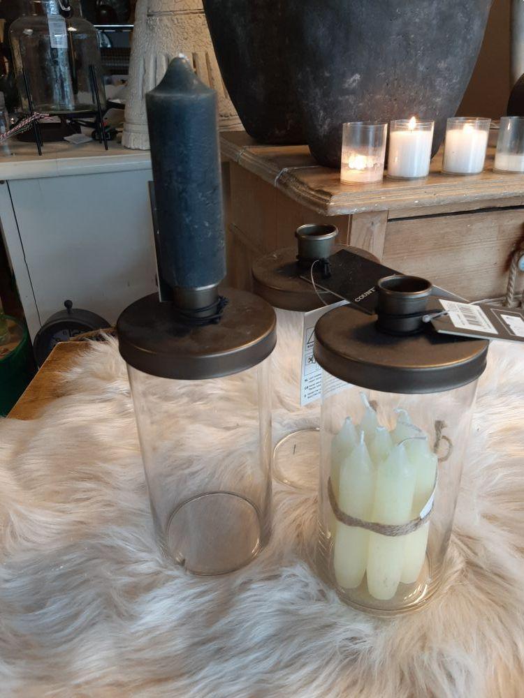 kandelaar glas metaal